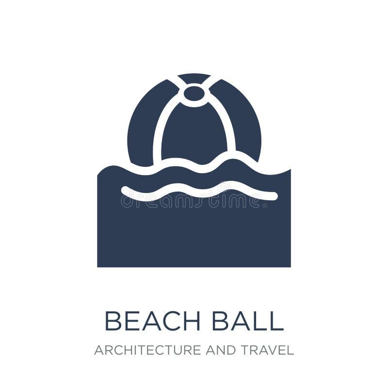 Icono de la pelota de playa  stock de ilustración
