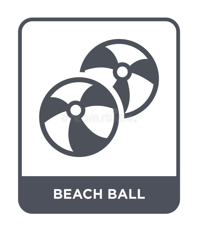 icono de la pelota de playa en estilo de moda del diseño Icono de la pelota de playa aislado en el fondo blanco icono del vector  ilustración del vector