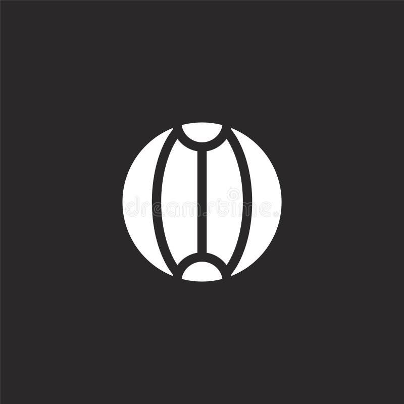 Icono de la pelota de playa Icono llenado de la pelota de playa para el diseño y el móvil, desarrollo de la página web del app ic libre illustration