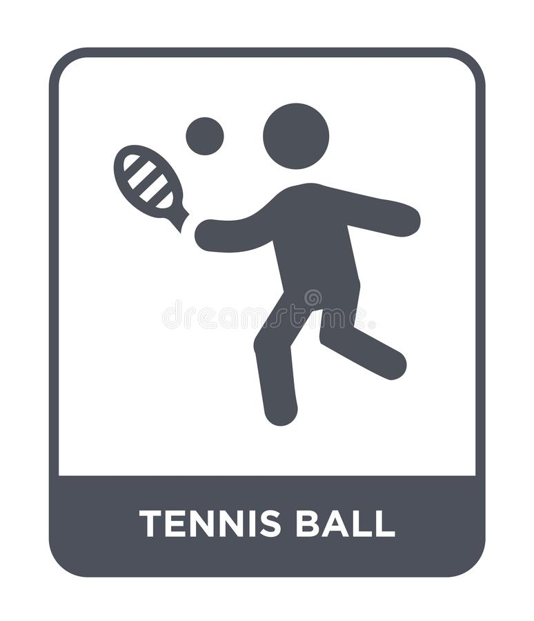 icono de la pelota de tenis en estilo de moda del diseño icono de la pelota de tenis aislado en el fondo blanco icono del vector  libre illustration