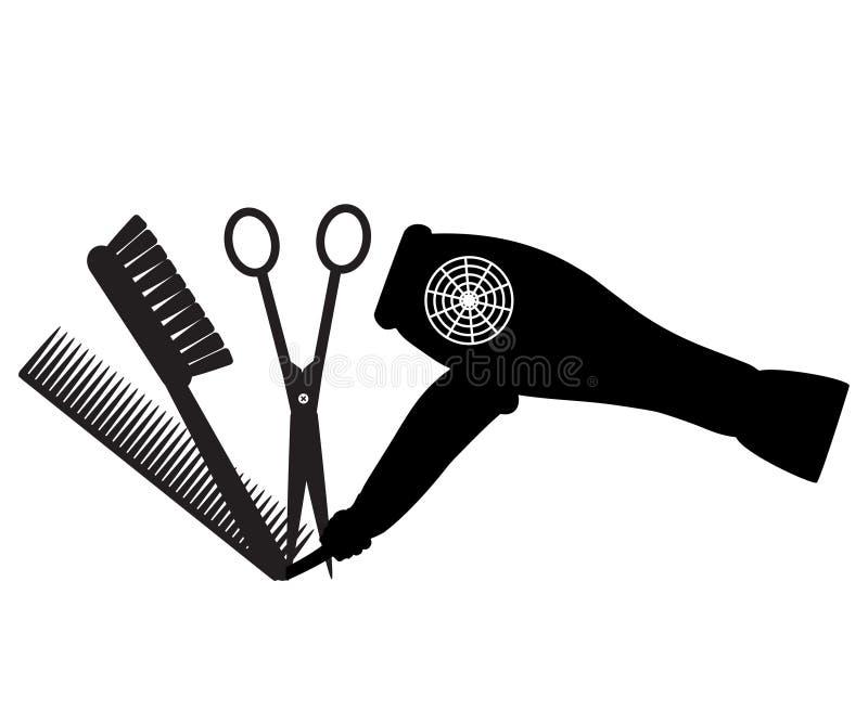 Icono de la peluquería de caballeros ilustración del vector