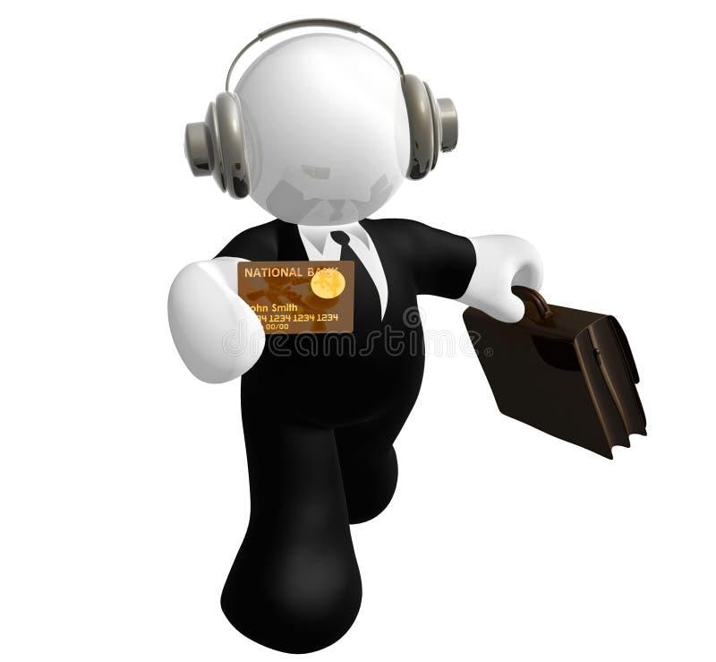 Icono de la persona de las ventas ilustración del vector