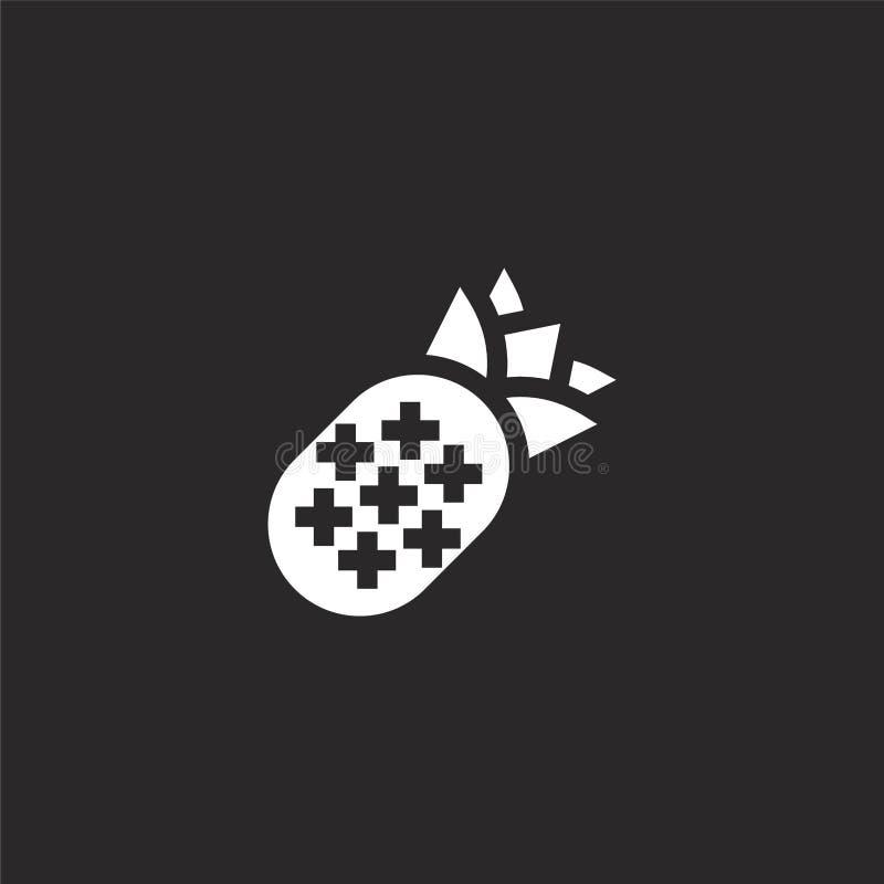 Icono de la pi?a Icono llenado de la piña para el diseño y el móvil, desarrollo de la página web del app icono de la piña de la c stock de ilustración