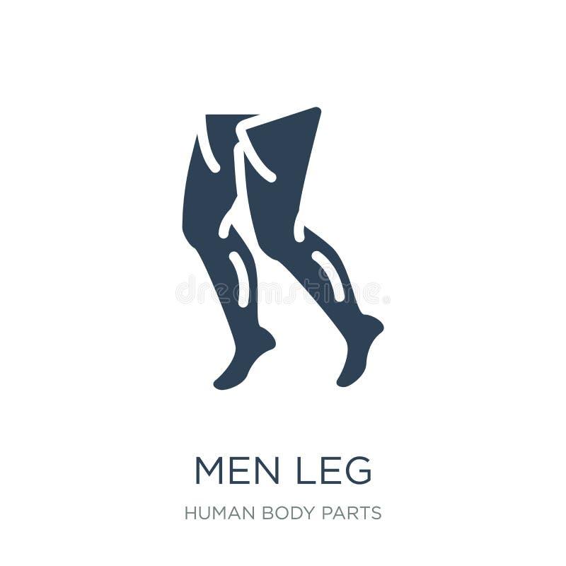 icono de la pierna de los hombres en estilo de moda del diseño Icono de la pierna de los hombres aislado en el fondo blanco símbo libre illustration