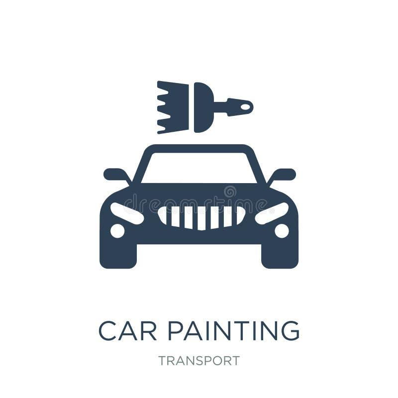 icono de la pintura del coche en estilo de moda del diseño icono de la pintura del coche aislado en el fondo blanco icono del vec ilustración del vector