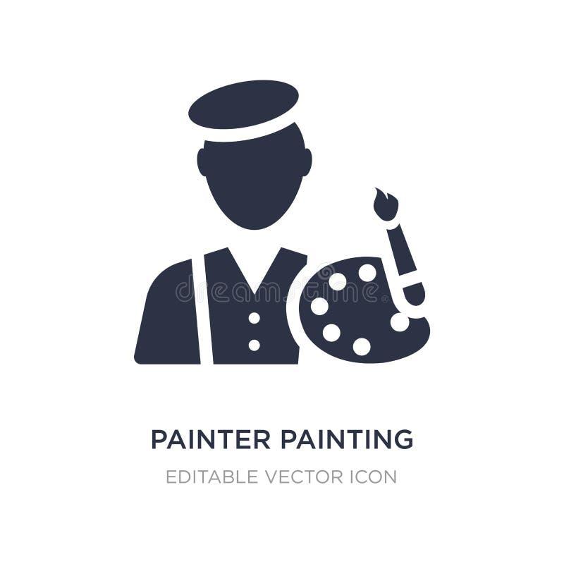 icono de la pintura del pintor en el fondo blanco Ejemplo simple del elemento del concepto del arte stock de ilustración