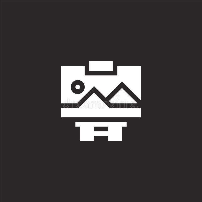 Icono de la pintura Icono de pintura llenado para el diseño y el móvil, desarrollo de la página web del app icono de pintura de a stock de ilustración