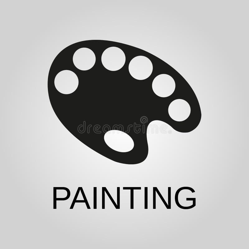 Icono de la pintura Símbolo de la paleta Diseño plano Acción - ejemplo del vector libre illustration