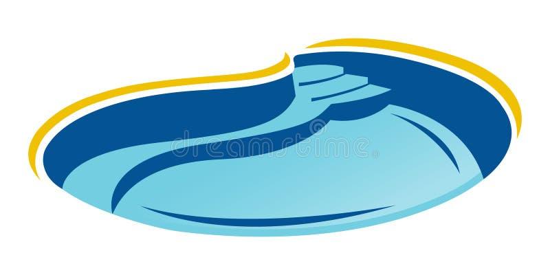 icono de la piscina en estilo de moda del dise?o Icono de la piscina aislado en el fondo blanco ilustración del vector