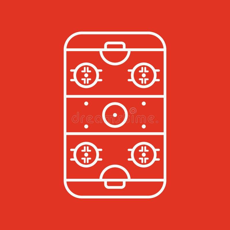 Icono de la pista de hockey sobre hielo Símbolo del juego plano stock de ilustración