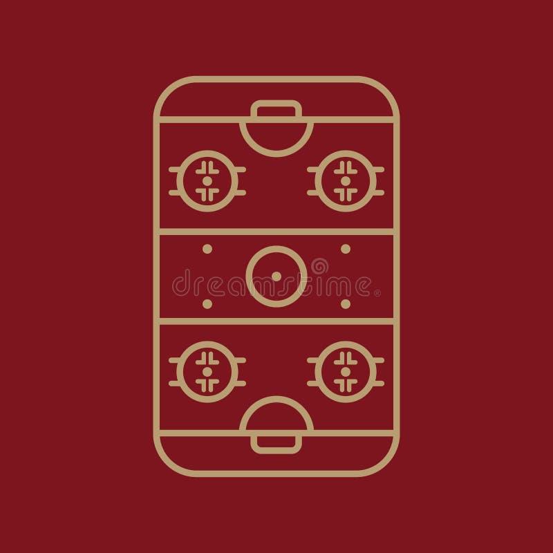 Icono de la pista de hockey sobre hielo Símbolo del juego plano libre illustration