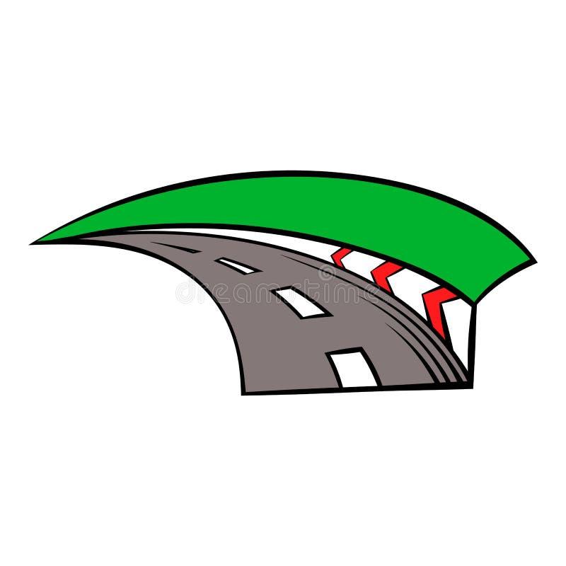 Icono de la pista que compite con, historieta del icono ilustración del vector