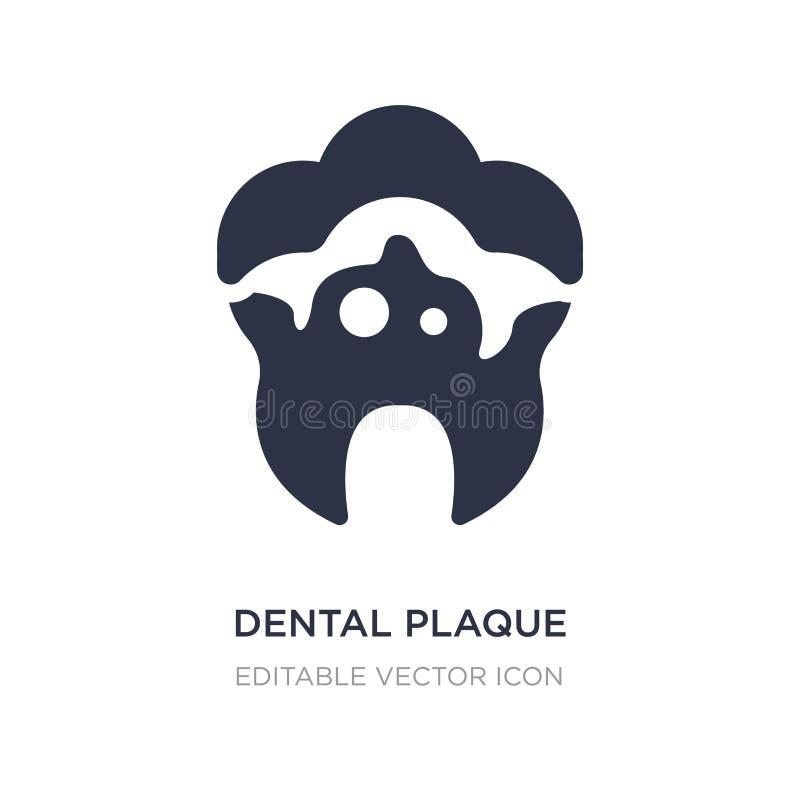 icono de la placa dental en el fondo blanco Ejemplo simple del elemento del concepto del dentista ilustración del vector
