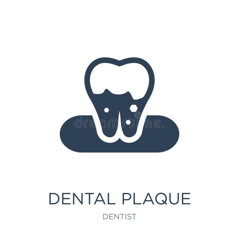 icono de la placa dental en estilo de moda del diseño icono de la placa dental aislado en el fondo blanco icono del vector de la  stock de ilustración