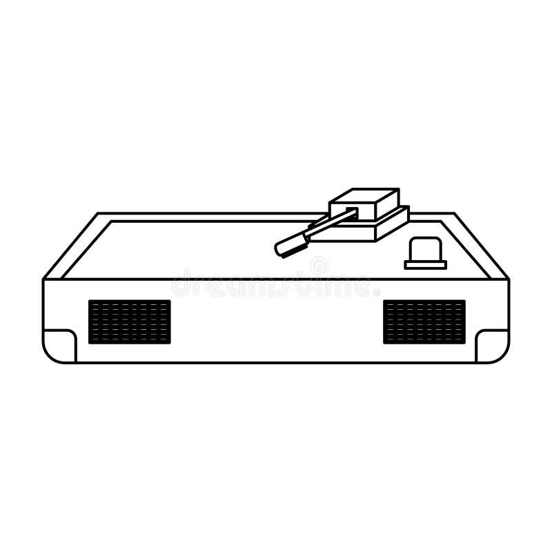 Icono de la placa giratoria del disk jockey ilustración del vector