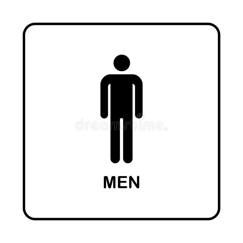 Icono de la placa de la puerta del retrete del WC Placa simple del cuarto de baño libre illustration