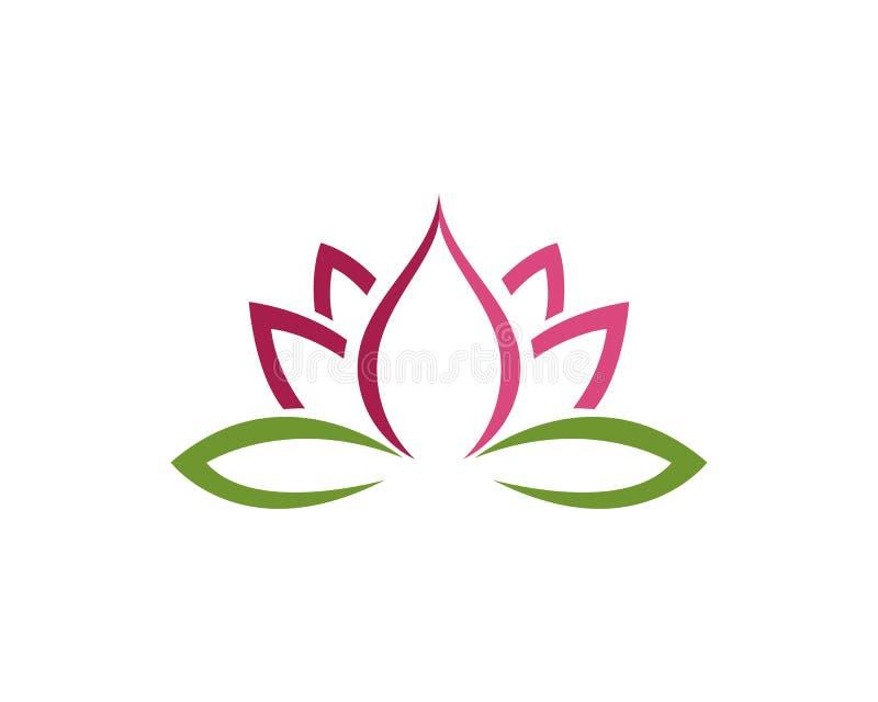 Icono de la plantilla del logotipo del diseño de las flores de Lotus libre illustration