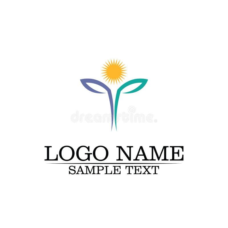 Icono de la plantilla del logotipo del dise?o de las flores del vector de la belleza stock de ilustración