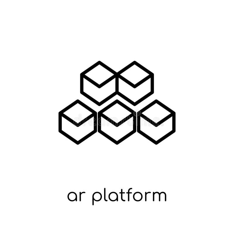 icono de la plataforma de AR  stock de ilustración