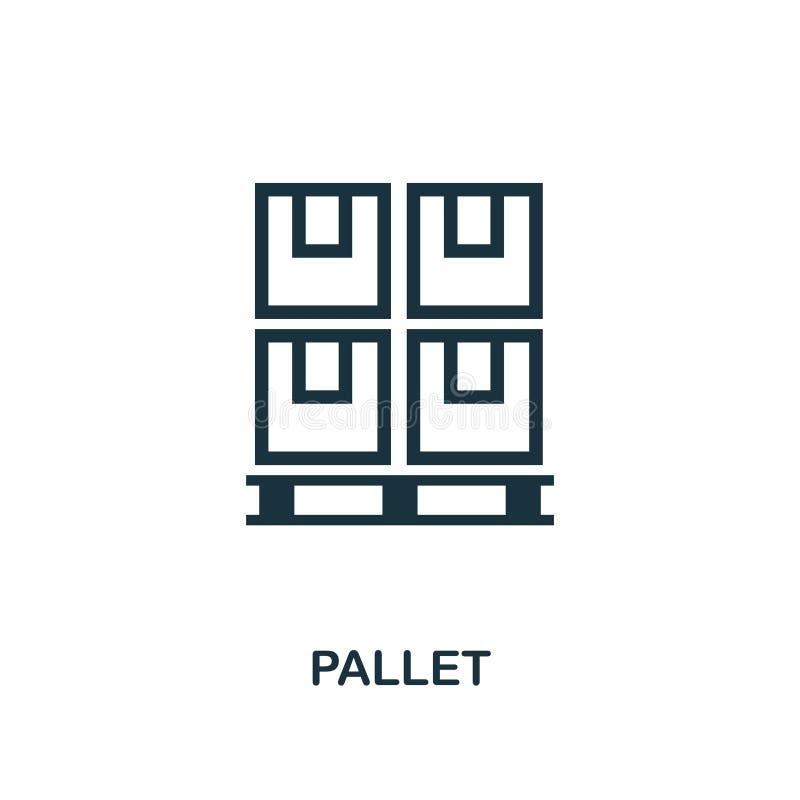 Icono de la plataforma Diseño monocromático del estilo de la colección del icono de la entrega de la logística Ui Icono simple pe libre illustration