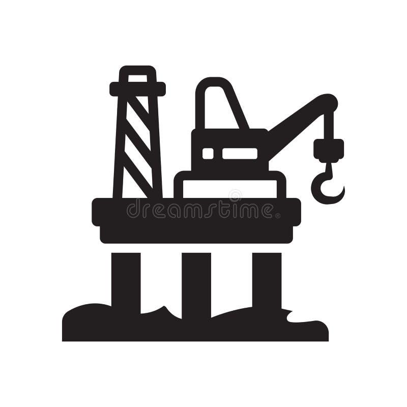Icono de la plataforma petrolera  ilustración del vector