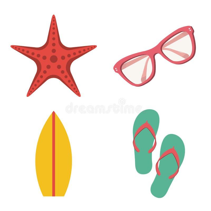 Icono de la playa stock de ilustración