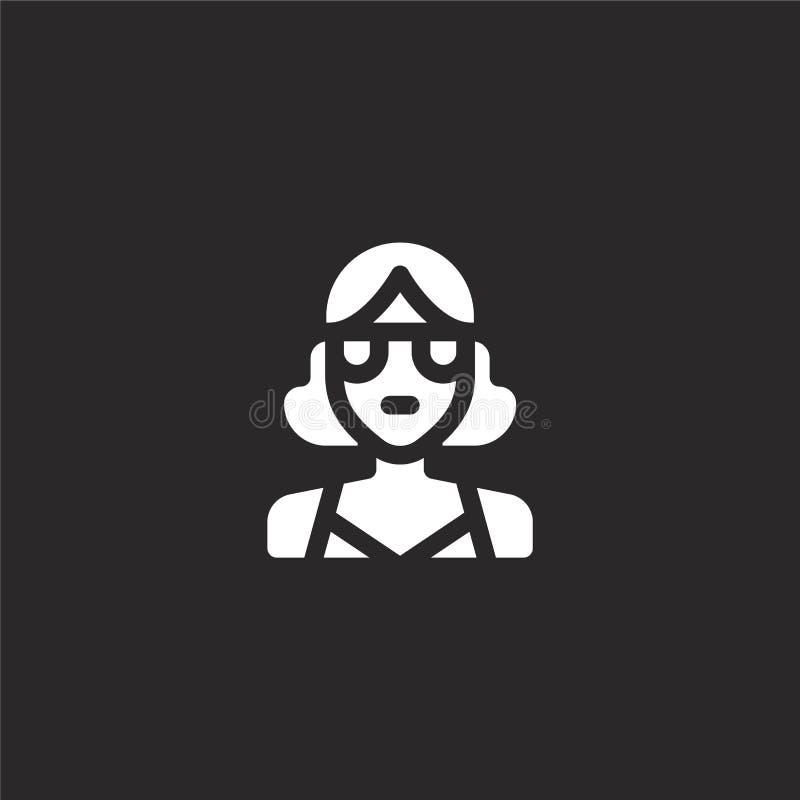 Icono de la playa Icono llenado de la playa para el diseño y el móvil, desarrollo de la página web del app icono de la playa de l libre illustration