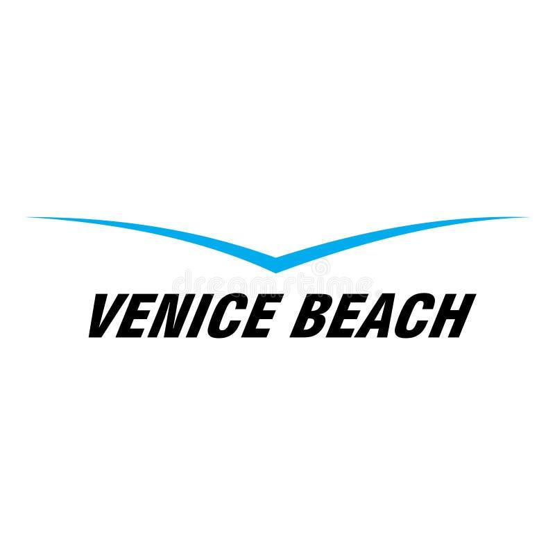 Icono de la playa de Venecia ilustración del vector