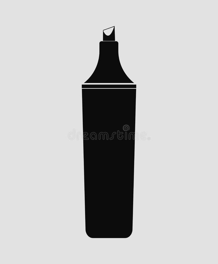 Icono de la pluma del Highlighter ilustración del vector