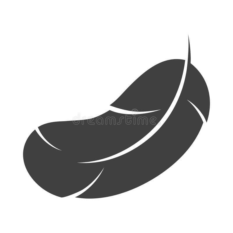 Icono de la pluma en el fondo blanco imagenes de archivo