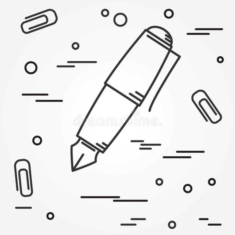Icono de la pluma Vector del icono de la pluma libre illustration