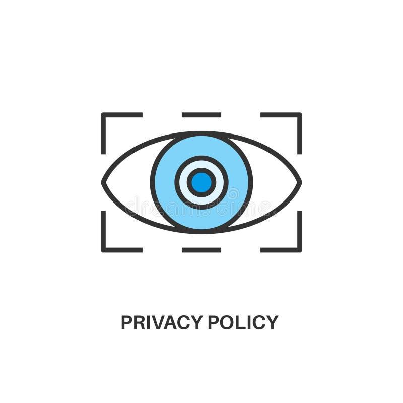 Icono de la política de privacidad ilustración del vector