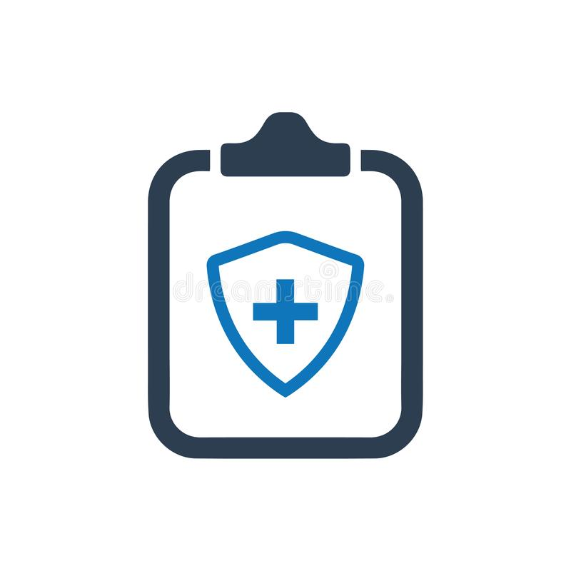 Icono de la política del seguro médico stock de ilustración