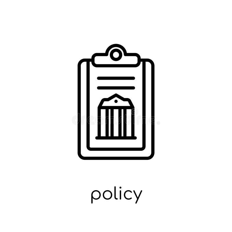 icono de la política Icono linear plano moderno de moda de la política del vector en whi libre illustration