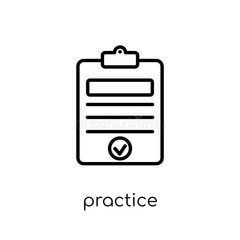 Icono de la práctica de la colección de la productividad libre illustration