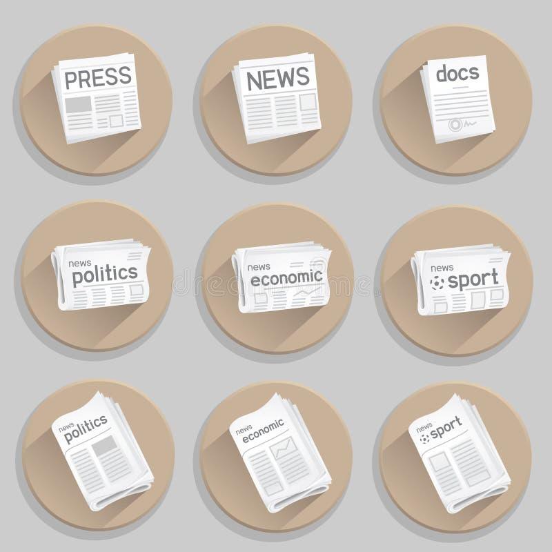 Icono de la prensa del periódico libre illustration