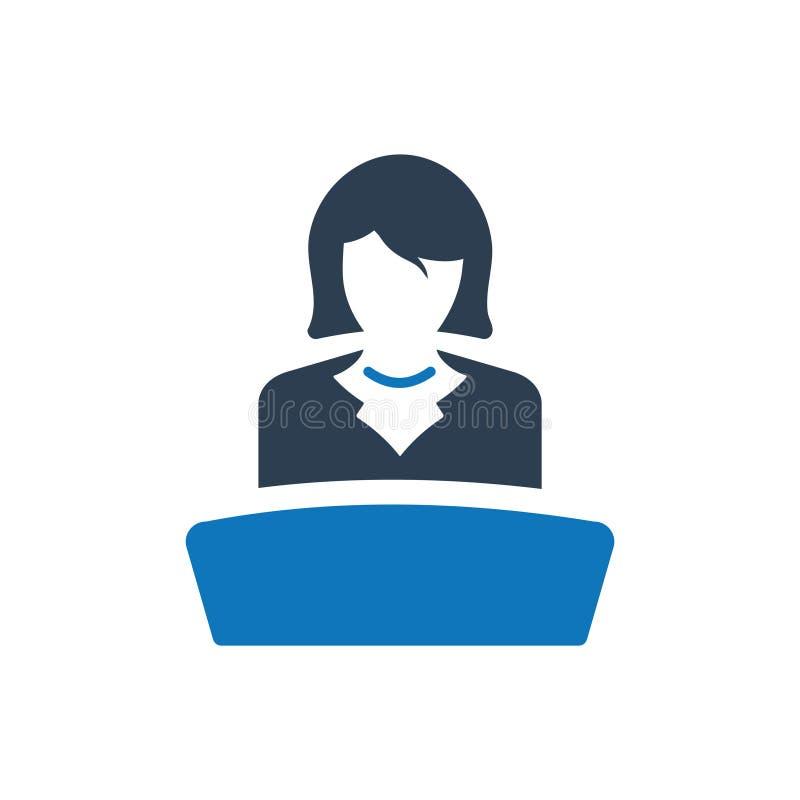 Icono de la presentación del negocio stock de ilustración