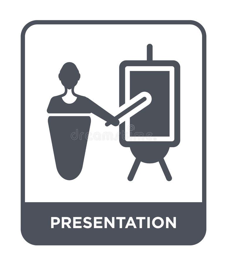 icono de la presentación en estilo de moda del diseño Icono de la presentación aislado en el fondo blanco icono del vector de la  stock de ilustración