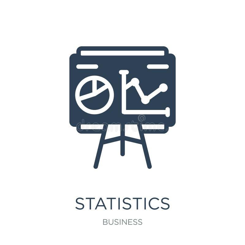 icono de la presentación de las estadísticas en estilo de moda del diseño icono de la presentación de las estadísticas aislado en stock de ilustración