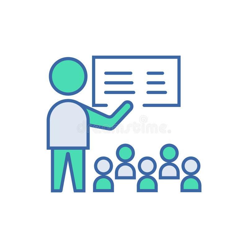 Icono de la presentaci?n s?mbolo del esquema y del diagrama del vector Icono plano de la presentaci?n ilustración del vector