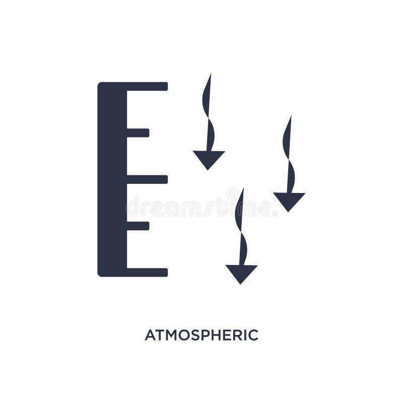 icono de la presión atmosférica en el fondo blanco Ejemplo simple del elemento del concepto del tiempo ilustración del vector