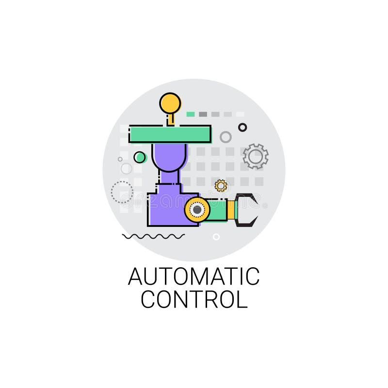 Icono de la producción de la industria de la automatización industrial de la maquinaria del control automático stock de ilustración