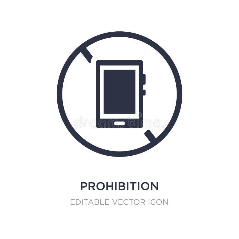 icono de la prohibición en el fondo blanco Ejemplo simple del elemento del concepto de las muestras libre illustration