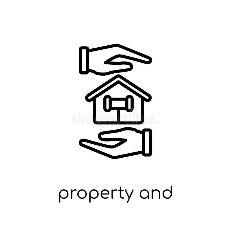 icono de la propiedad y de las finanzas Apoyo linear plano moderno de moda del vector libre illustration