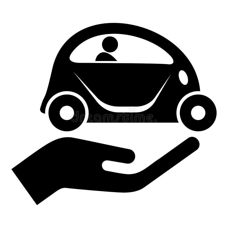Icono de la protección del coche, estilo negro simple libre illustration
