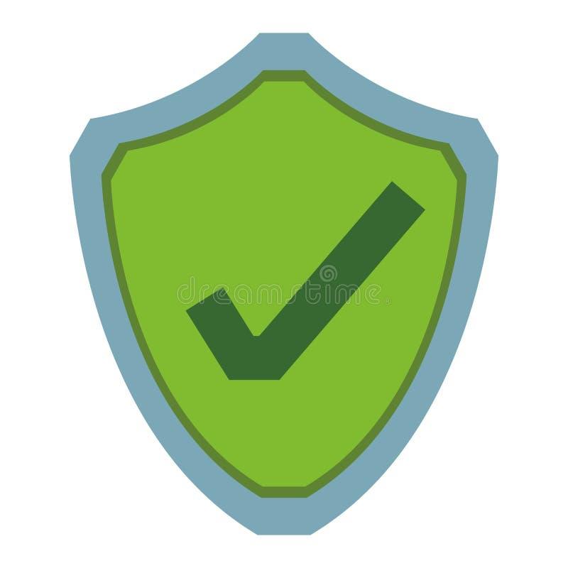 Icono de la protección del ordenador ilustración del vector