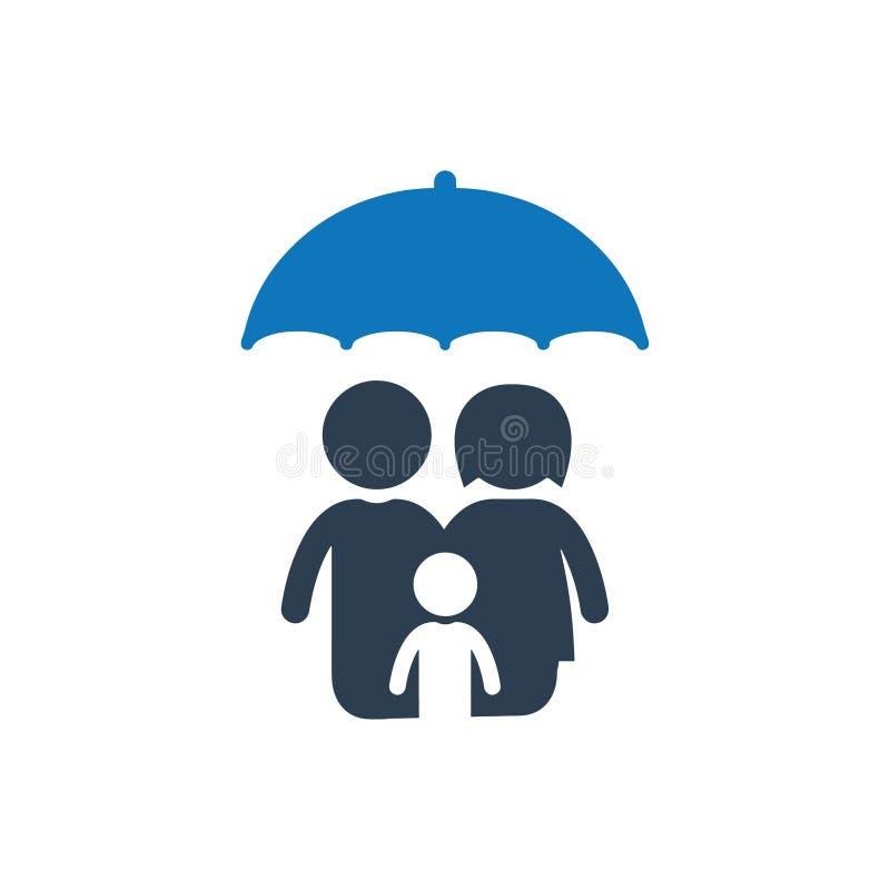 Icono de la protección de la familia ilustración del vector