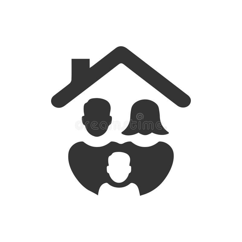 Icono de la protección de la familia libre illustration
