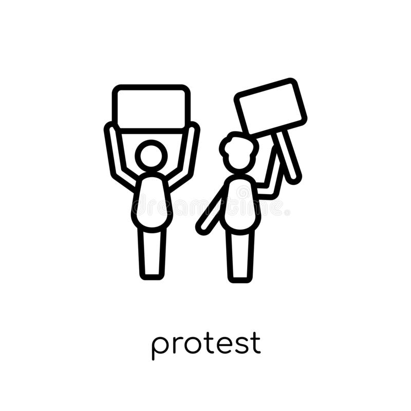 Icono de la protesta de la colección libre illustration
