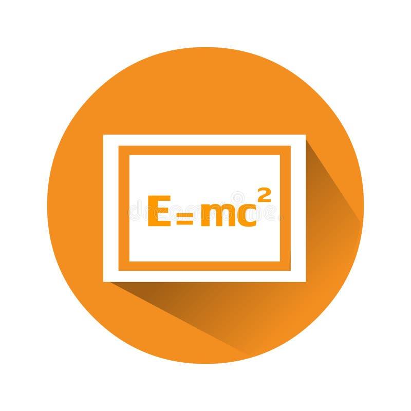 Icono de la prueba de Einstein Ejemplo del logotipo del gráfico de vector de la ecuación de las matemáticas ilustración del vector